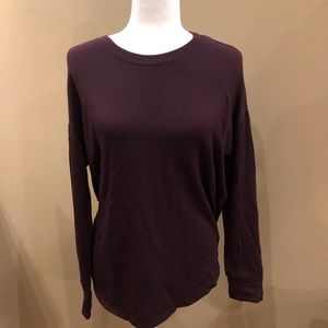 Athleta Burgundy Sweatshirt with Cut Out Detail in the Back, Size S
